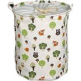 AISI gran capacidad algodón y lino juguete bolsa de almacenamiento con cordón ajustable bolsa para la colada resistente al agua y al polvo cesto para la colada