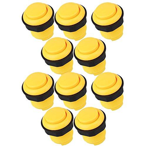 bqlzr-classic-28mm-round-arcade-push-button-for-arcade-mame-usb-pc-joystick-diy-pack-of-10