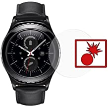 "2 x Slabo Protector de pantalla blindado para Samsung Gear S2 ""Shockproof"" A prueba de golpes Invisible MADE IN GERMANY"