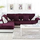 AOTUOTECH lila Möbelschutz Plaid Plüsch Sitze Anti-Rutsch-Sofa Schonbezüge, Plüsch, violett, 45 * 45CM#1
