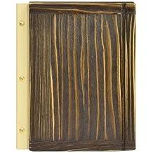 Carta Menú de madera soporte para menús A4 tamaño Handel Pub Hotel pantalla placa de superficie de cuero