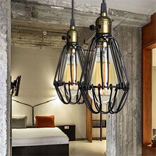 Colgante Retro Cuelga Fixture Kitchen Hkhjn Industrial Luz Lámpara Que Vintage De Shop Negro La Techo Bar 0Owvm8nNy