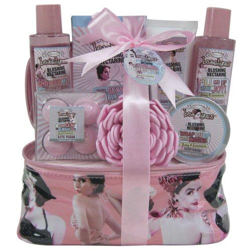 Gloss ! Make up & accessoires Vanity de Bain Beautyous Nectarine 7 Pièces, Coffret Cadeau-Coffret de bain
