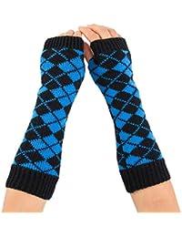 Bekleidung Zubehör Mädchen Arm Winter Handschuhe Lange Geschenk Warme Fingerless Für Frauen Schnee Muster Stricken