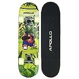 Apollo Skateboard, kleines Komplett Board mit ABEC 3 Kugellager, Aluminium Achsen, verschiedene Designs - für Kinder und Teenager