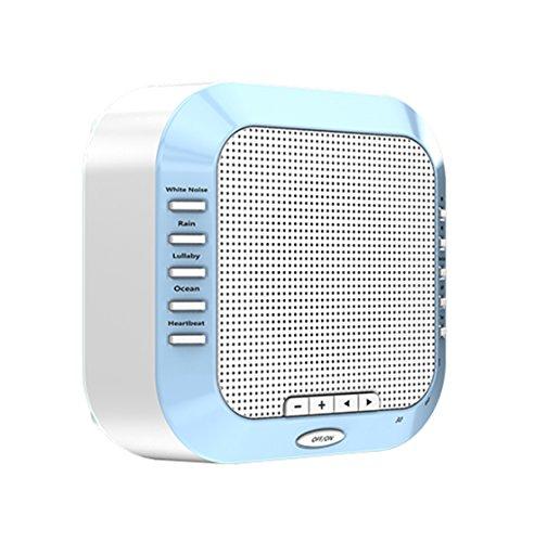 Schlaf Soothing Sound Mit Night-Light-Maschine Natural White Noise Insomina Sleepingtherapy Für Baby-Erwachsene Zu Lindern,Blue (Meer-sd-karte)