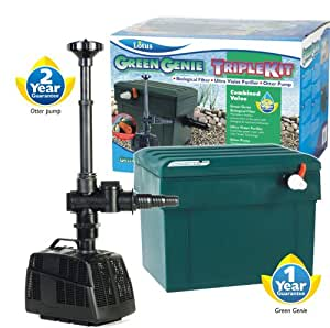 Lotus Green Genie 3000 Triple Kit With Uv Clarifier Pond Filter And Fountain Pump