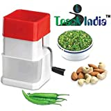 Trackindia Plastic Delux Chilly Cutter Vegetable & Dry Fruit Chopper (Multicolor)