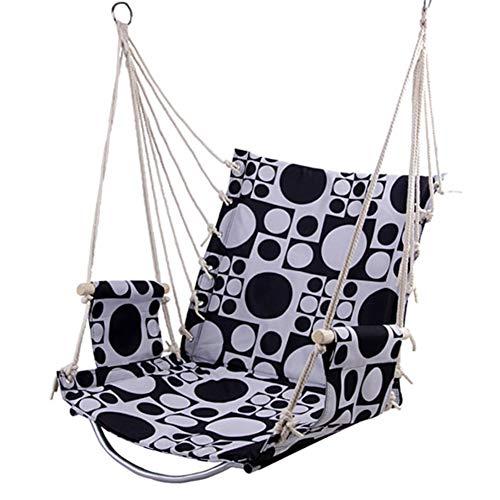 �ngend Seil Swing Kinder Erwachsene Innen und Draussen Single Hängematte Max 180 Pfund - 1 Sitz Kissen Inbegriffen - Qualität Baumwolle Weben zum Überlegen Komfort Haltbarkeit ()