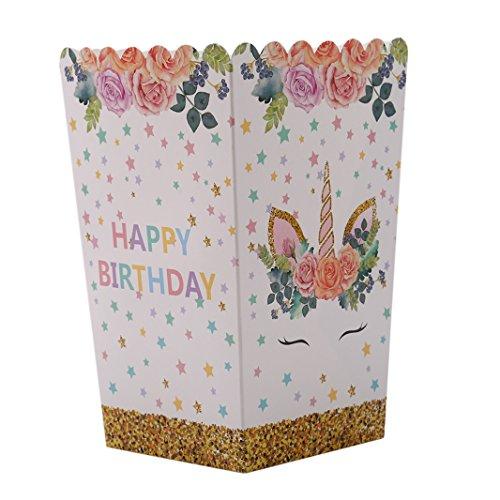 Sperrins 10 Teile/satz Einhorn Popcorn Boxen Container Füllung Mit Süßigkeiten Cookie Snacks Kleine Spielzeug Partei Liefert Einhorn Themen Geburtstag Dekorationen
