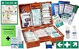 Erste-Hilfe-Koffer Gastro Pro M5+ für Betriebe Din/EN 13169 inkl. Augenspülung + Brandgel + detektierbare Pflaster + Hydrogelverbände