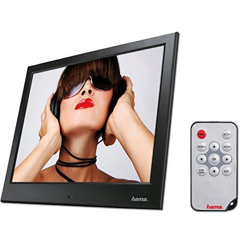 """Hama Digitaler Bilderrahmen """"Slimline Basic"""" (24,64 cm (9,7 Zoll), SD/SDHC/MMC-Kartenslot, USB 2.0, elektronischer Bilderrahmen mit Fernbedienung, Zufallswiedergabe) schwarz"""