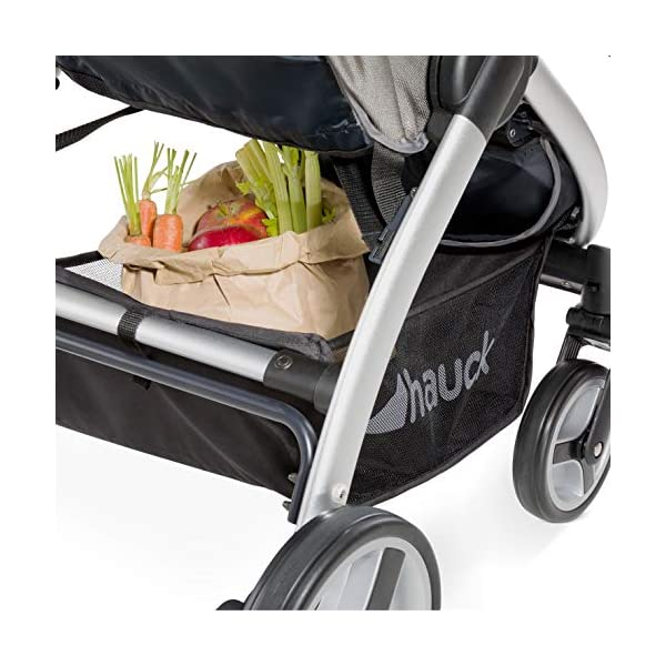 Hauck Lift Up 4, Lightweight Pushchair from Birth to 25 kg, Quick Fold with One Hand with Lying Position, Telescopic, Height-Adjustable Push Handle, Cup Holder, Charcoal Hauck EASY FOLDING - Thanks to its One-Hand-Fold mechanism, this pushchair is folded away within seconds up to a small size. This can be easily transported by the carry strap, leaving one hand free for your little one LONG USE - This buggy can be used over a long period of time as it is suitable from birth thanks to lying position and up to 25 kg. It can also be combined with the hauck Comfort Fix infant car seat + adaptors or hauck 2in1 Carrycot COMFORTABLE - Thanks to backrest and footrest beign adjustable into lying position which is suitable for bigger children, too, as well as large sun hood with UV protection and height-adjustable, telescopic push handle 14