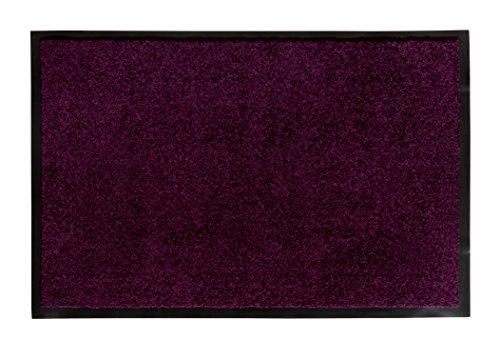 andiamo Schmutzfangmatte Fußabtreter Türmatte Fußmatte Sauberlaufmatte Schmutzabstreifer Türvorleger - Eingangsbereich In/Outdoor - rutschhemmend waschbar lila Polypropylen- 60x90 cm - 5 mm Höhe