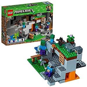 LEGO Minecraft LaCavernadelloZombie, Set di Costruzioni con Minifigure di Steve, Zombie e Baby Zombie, Giocattoli per Bambini, 21141 5702016109597 LEGO