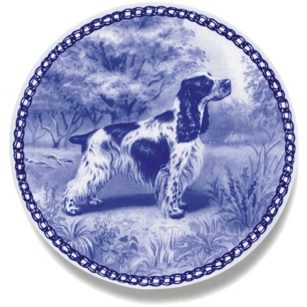 English Cocker Spaniel / Lekven Design Dog Plate 19.5 cm /7.61 inches Made in Denmark NEW with certificate of origin PLATE #7165
