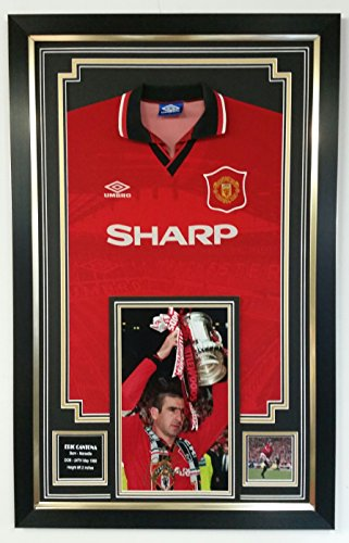 Eric Cantona Of Manchester United Signed Photo and Shirt