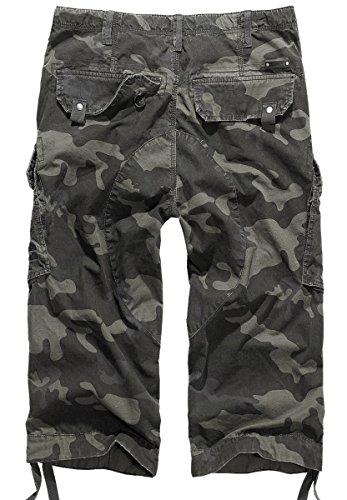 Brandit short cargo columbia mountain 3/4 pour homme Gris - Motif camouflage Foncé