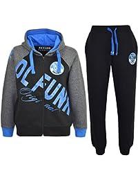 A2Z 4 Kids® - Pijama de una pieza - para niño multicolor negro y azul