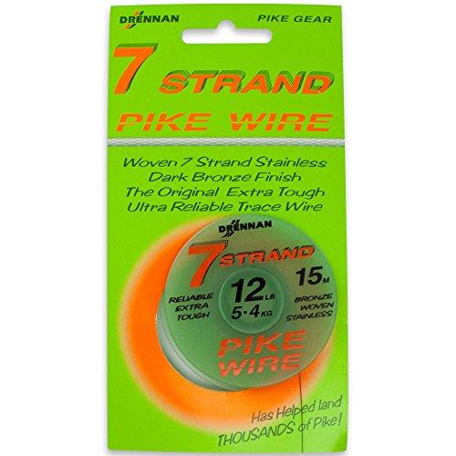 DrennanTracer Wire Seven 7 Strand 12lb Stahlvorfach -