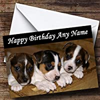 Jack Russell Puppy Dogs Personalised Birthday Card