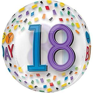 Amscan International 3517401 Happy 18th Birthday - Globo, diseño de arcoíris