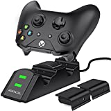 Xbox One Controller Ladestation, BEBONCOOL Twin Docking Station Xbox Ladestation, Sicher Ladegerät Xbox akku und Ladestation für Xbox One/One S/One X Controller mit LED-Anzeige 2 x 800mAh Akku-Packs