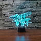 3D Das flugzeug Optische Illusions-Lampen, Tolle 7 Farbwechsel Acryl berühren Tabelle Schreibtisch-Nachtlicht mit USB-Kabel für Kinder Schlafzimmer Geburtstagsgeschenke Geschenk