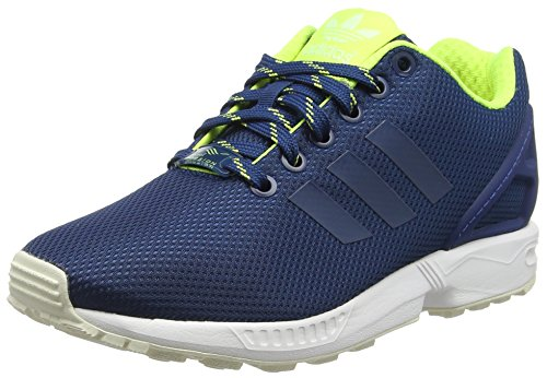 Adidas Zx Flux, Espadrillas Uomo, Blu (Shadow Blue/Solar Yellow/Haloshadow Blue/Solar Yellow/Halo), 41 1/3 EU