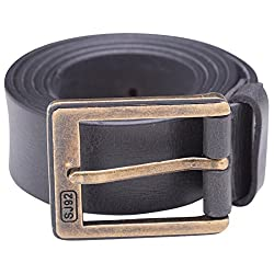 Spykar Mens Leather Belt (SPY/MBL/2AF03_Ash_X-Large)