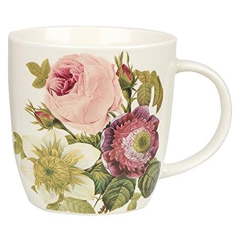 RHS Fine China Redoute Rose Mug, Multi-Colour