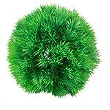 """SODIAL(R) Planta bola de hierba artificial de plastico verde del tanque de pesca 5.1"""" Altura"""