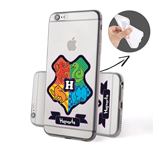 Harry Potter All Serie Silicone Iphone - Case Logo, Iphone 7 Hogwarts Stemma
