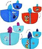 Unbekannt Regencape / Regenponcho -  Mickey Mouse  - Gr. 110 - 116 - 122 - Circa 4 bis 6 Jahre - für Kinder - Jungen & Mädchen / für Schulranzen - Tornister mit Kapuz..