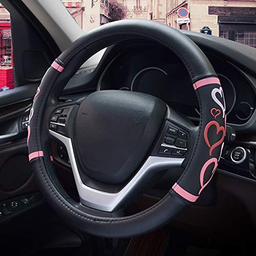 HONCENMAX Donne Veicolo Coprivolante Auto Protezione del Volante Fashion - Universale per Auto/Camion/SUV Diametro 38 cm (15')