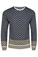 New Mens Xmas Long Sleeves Aztec Diamond Knitted Sweater Pullover Jumper Top