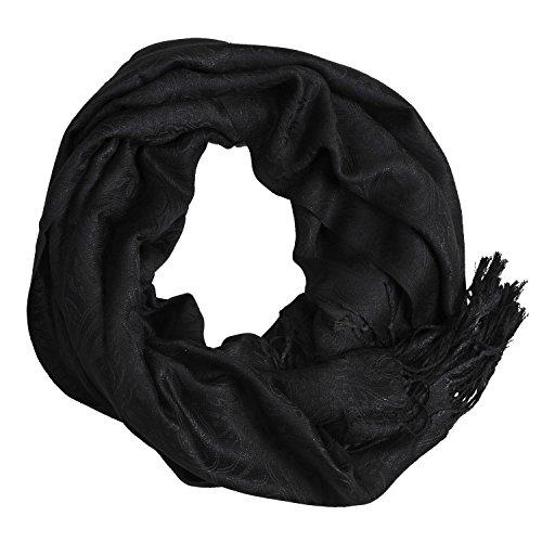 Heyjewels - Fular - para mujer negro XL