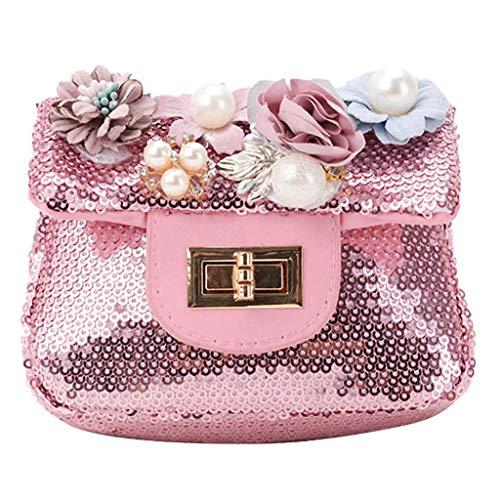Mitlfuny handbemalte Ledertasche, Schultertasche, Geschenk, Handgefertigte Tasche,Mädchen-Bunte Blumen-Paillette-beiläufige Ferien-einfache Crossbody Beutel-Art- und Weisebeutel -