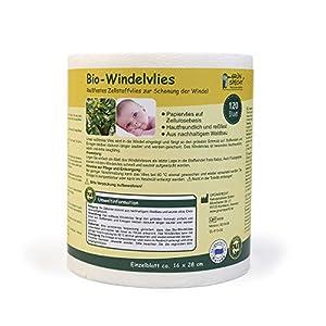 Grünspecht 676-00 Bio-Pflege-/Windelvlies 120 Blatt, weiß