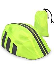 kwmobile funda para casco de bicicleta - protector para casco de bicicleta - cubierta impermeable unisex - visibilidad