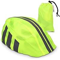 kwmobile Funda para Casco de Bicicleta - Protector para Casco de Ciclismo - Cubierta Impermeable Unisex - Visibilidad Verde neón