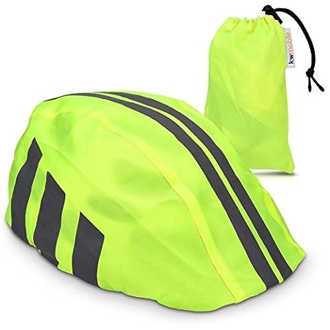kwmobile Helmüberzug Regenschutz für Fahrrad Helm - Helmschutz für Fahrradhelm - Regenüberzug wasserdicht unisex - Sichtbarkeit in Neon Gelb