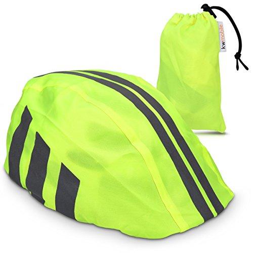 kwmobile Helmüberzug Regenschutz für Fahrrad Helm - Helmschutz für Fahrradhelm - Regenüberzug Wasserabweisend Unisex - Sichtbarkeit