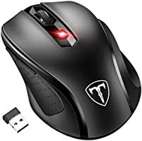 [Updated Version] Wireless Mouse, Patuoxun 2.4G USB Wireless Mice PC Laptop Computer Cordless Mouse with 6 Buttons, 2400...