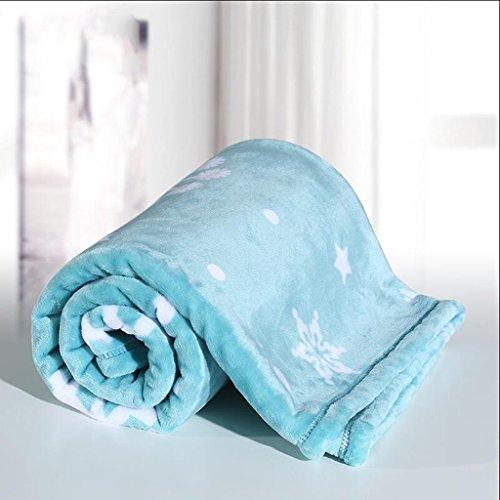 YAOHAOHAO Blau Schneeflockenmuster Babydecke Decke Polyester Material Winter Kindergarten Konzipiert für Baby (100*150cm)