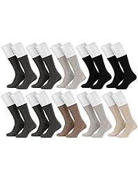 Tobeni 10 paires de chaussettes de coton santé sans préservatifs pour hommes et femmes