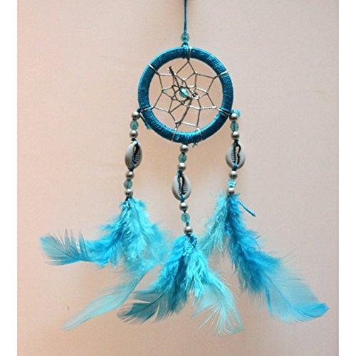 Per Handgefertigter Mini-Traumfänger, Windspiel, Hängedekoration, Ornament für Zimmer / Auto, in etwa 6 x 18 cm (2,36x 7,09 Zoll)), blau, Einheitsgröße (Autos Für Etwas)