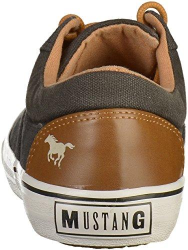 Mustang Damen Canvas Weiß Schwarz Schwarz (Schwarz 9)