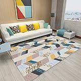 Chenteshangmao Geometrische Punktliniengrafiken, Couchtisch-Teppich Für Zu Hause, Nordischer Wohnzimmerteppich, Schlafzimmertextilien, Polyestermaterial, DREI Größen Persönlichkeitsteppich