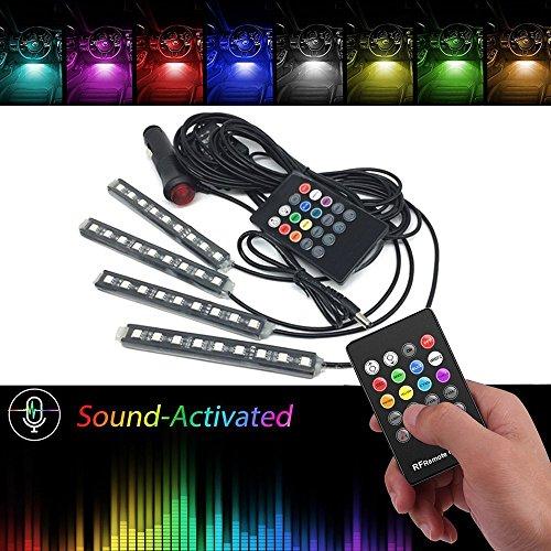 Bunte 8 Farbe Innenbeleuchtung mit Musik Kontrolle&Fernbedienung Auto LED Beleuchtung Wunderschön Weihnachten Geschenk